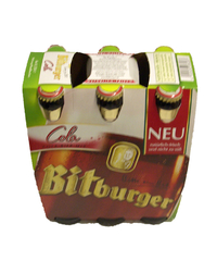 Bitburger Pils, Cola-Bier-Mix, 6 x 0,33 l