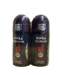 Nivea, For Men, Deo Roller, dry impact, 2 x 50 ml