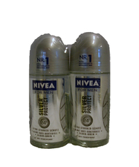 Nivea, For Men, Deo Roller, silver protect, 2 x 50 ml