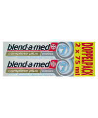 blend-a-med, Zahncreme, complete plus, weiss, 2 x 75 ml