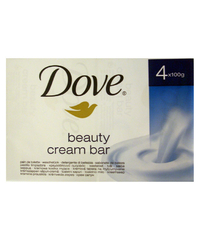 Dove, Seife, beauty cream bar, 4 x 100 g