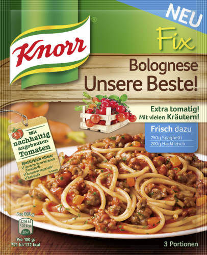 Knorr Fix, Spaghetti Bolognese, 42 g
