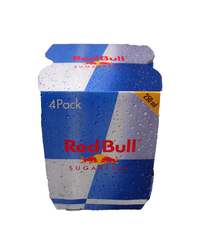Red Bull, Energy Drink, sugarfree, 4 x 250 ml