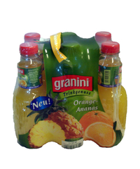 granini, Orange-Ananas, PET, 6 x 1 l