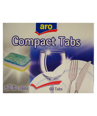 Spülmaschinen-Tabs, Compact all-in-one, 40 Tabs