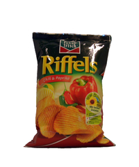 funny-frisch, Riffels, Chili & Paprika, 150 g