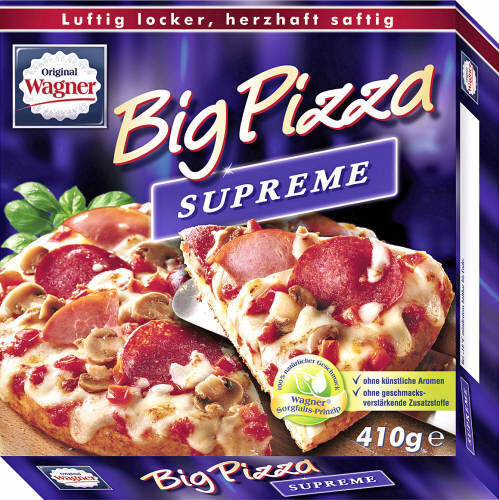 Wagner, Big Pizza, Supreme, 410 g