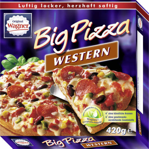 Wagner, Big Pizza, Western, 420 g