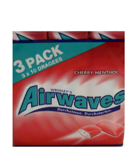 Airwaves, Cherry Menthol, 3 x 10 Dragees