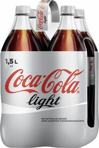 Coca Cola light, 4 x 1,5 l